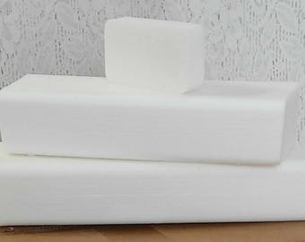 10 lb LOW SWEAT WHITE Melt And Pour Glycerin Soap Base All Natural
