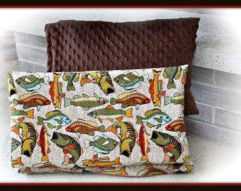 Fish Nap Mat Cover and Pillow Case - Kindermat - Fishing - hunting -
