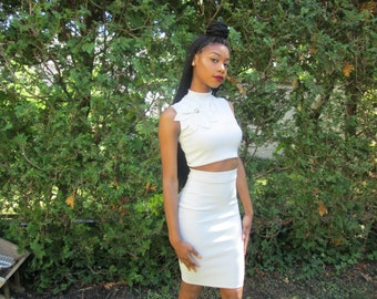Highwaist Pencil Skirt Grey
