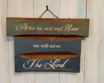 Hand painted and Handmade Sign from Reclaimed Wood