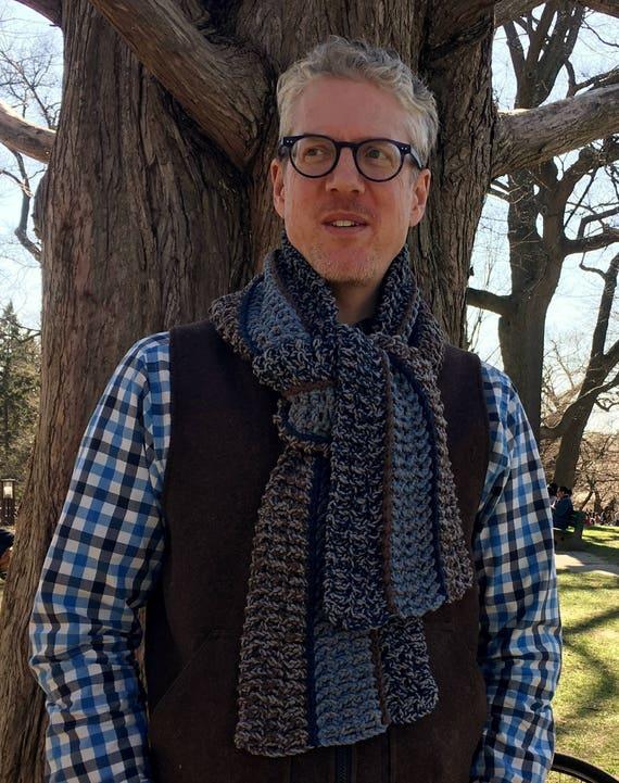 Mens Crochet Scarf Pattern Easy Crochet Scarf Pattern