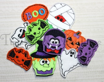 Set Of 10 Halloween Felties