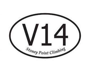 V14 Rock Climbing Sticker - V Scale Stickers - Bouldering - Rock Climbing - Rock Climber Gift - Climbing Accessories - Climbing Grade