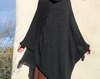 Made to order-Alpaca poncho, all natural colors, no dyes, large