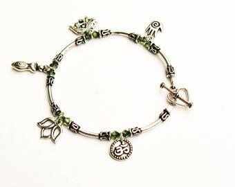 Yoga Charm Bracelet, Zen Charm Bracelet