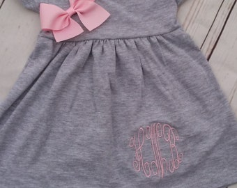 Personalized Baby Gift Baby girl dress Personalized Baby Girl Clothes Baby Clothes Infant dress Baby Outfit pink monogrammed baby girl dress