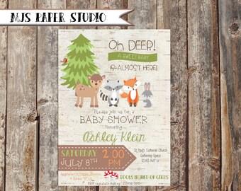 Woodlands Baby Shower Invitation