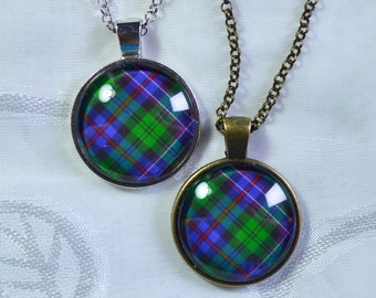 Scotland National Official Tartan - Handmade Scottish Tartan Pendant/Keychain