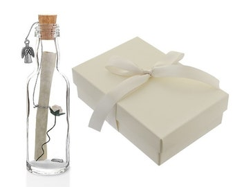Special Godmother Gift | Personalised Message in a Bottle with Box