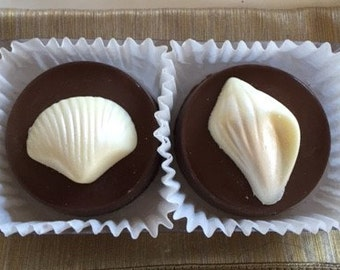 Seashell Chocolate Covered Oreo Wedding Favors