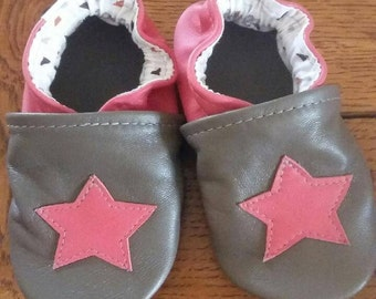 leather star shoes
