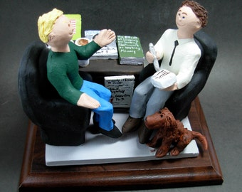 "Shrink  ""Therapist""  ""Psychiatrist"" Figurine Custom Made to Order, Psychiatrist Graduation Gift ,Psychologist Graduation Gift Figurine"