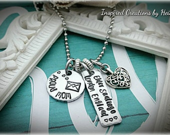 LDS missionary mom necklace , proud missionary mom necklace , handstamped , Elder , mormon jewelry , personalized necklace