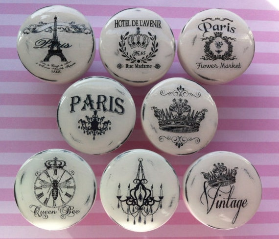 New vintage handmade knobs drawer pulls paris france shabby for Don de meuble paris