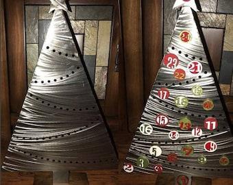 Magnetic Advent Calendar, Metal Christmas Tree, Christmas Countdown, Christmas Table Decor, Holiday Centerpiece, Countdown to Christmas
