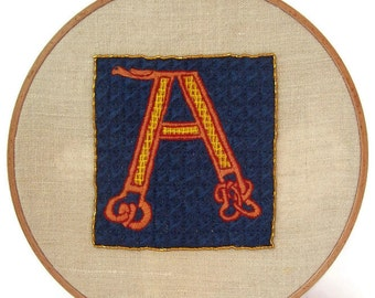 "Traditional embroidery kit ""Illuminated A"""