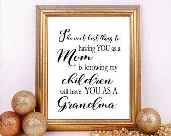 grandma print grandma decor gift for grandma grandmother