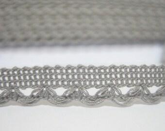 5 yards Light Gray Lace Trim, LaceTrim, Crochet Lace Trim, Cotton Lace Trim, Gray trim, Grey lace trim, Wholesale trim, Grey lace, Grey Trim