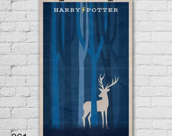 Harry Potter Poster. Movie Poster. Movie Art Print. 13x19, 16x20, 18x24, A1 size. Pop Culture and Modern Home Decor Poster. Item No. 061