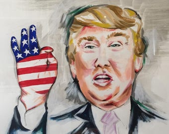 Donald Trump (original) painting