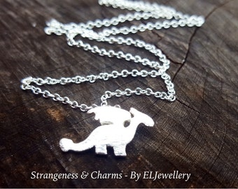 Silver Dragon Charm Necklace, Dragon Jewellery, Jewelry, Little Dragon Charm, Simple Necklace, Magical, Mythical, Fantasy, Dragons, Dragon.