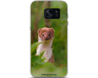 Samsung Case with Peaking Stoat | Original Photogaphy