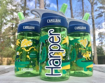 Kids Camelbak, JUNGLE ANIMALS Camelbak, Water Bottle, Daycare, Personalized Sippy cup, Childs cup with name, Ring Bearer, Flower Girl gift