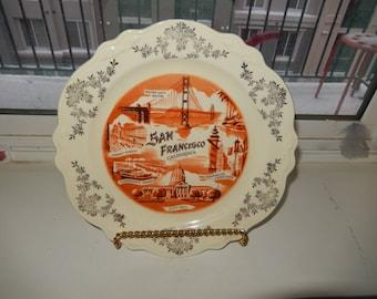 Vintage San Francisco Decorative Plate