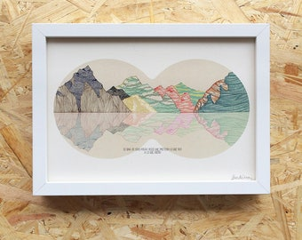 illustration mountains A4