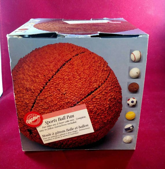 Wilton Sports Ball cake pan unused in original box with directions