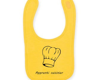 "Personalized baby bib ""apprentice foodie / Cook"""