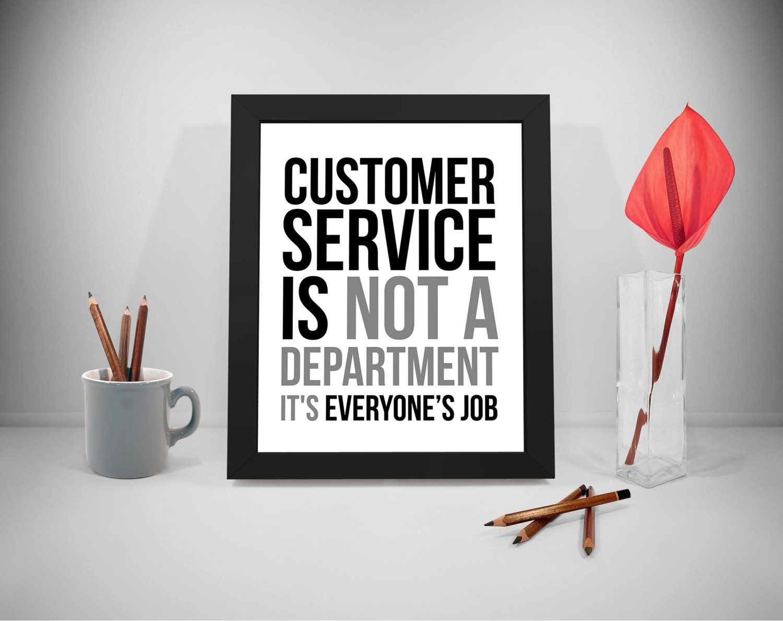 Kunden Service bedruckbare Zitate Business Sprüche Service