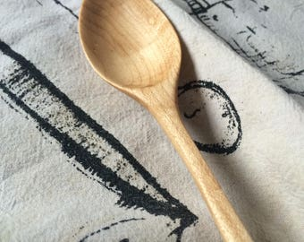 Solid maple, wooden 'everyday eating' spoon