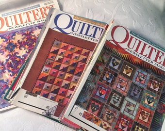 Set of 12 Quilters Newsletter Magazines