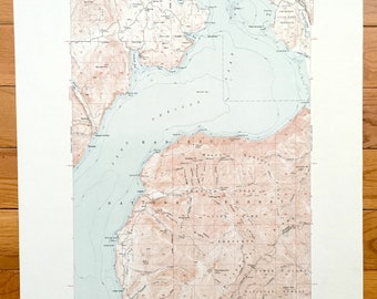 Antique Packsaddle Mountain, Idaho 1951 US Geological Survey Topographic Map – Pend Oreille Lake, Coeur D'Alene, Bonner, Shoshone County