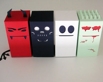 DIY halloween candy boxes - SVG cutting files