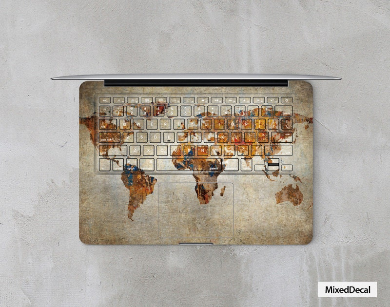 Classic map macbook air 13 decal keyboard skin full cover zoom gumiabroncs Image collections