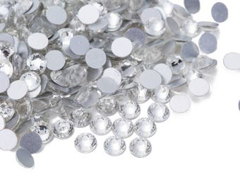 High Quality Crystal Clear Crystal Rhinestones loose flat back No Hot Fix bead Size ss 10/ ss 12/ ss14/ ss16/ ss20/ ss30/ ss34 / ss40 / ss50