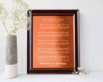 7th anniversary gift, 22nd anniversary gift, First dance song, Copper Anniversary gift, 7 Years Together, Sheet Music