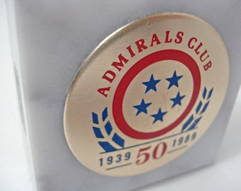 American Airlines Admirals Club Paperweight 50th Anniversary 1939 1989 Vintage