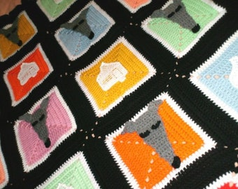 AerieDesigns Homes 4 Hounds Greyhound Dog Afghan PDF Crochet Pattern Instant Digital Download