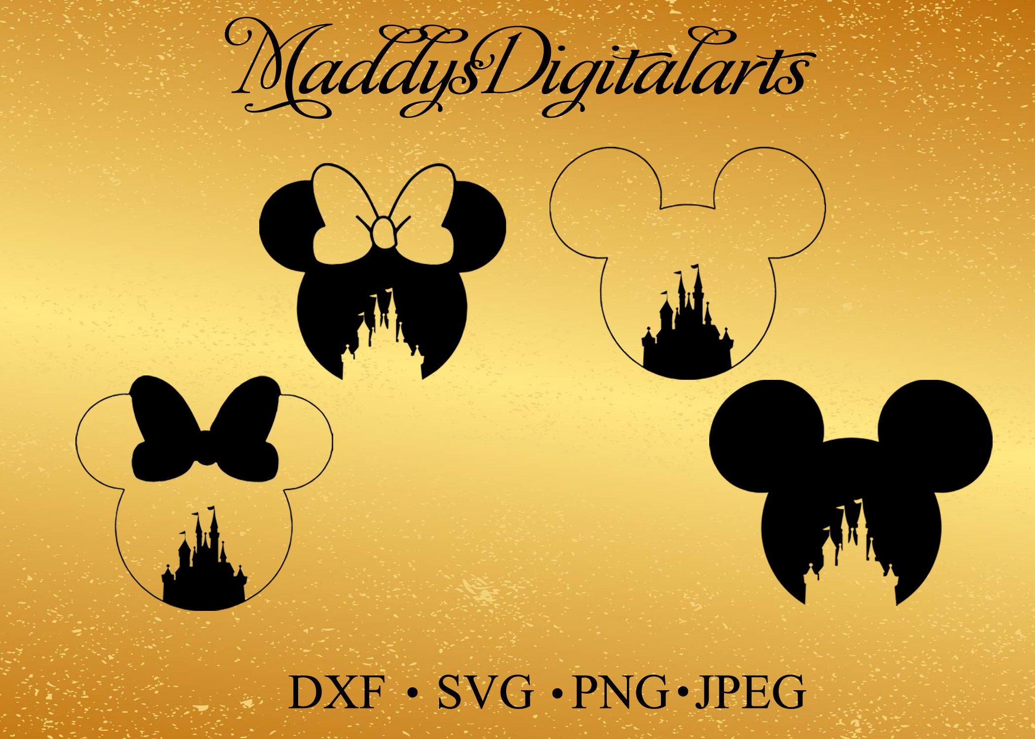 Castillo de Disney Mickey Mouse SVG, Monograma Minnie Mouse, marco ...