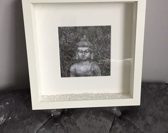 Zen Buddha Print with Frame