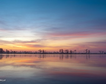 Louisiana Bayou Colorful Sunrise