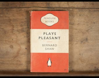 Bernard Shaw, Plays Pleasant/Arms And The Man / Candida/The Man Of Destiny/You Never Can Tell / penguin books, English, 1951/vintage