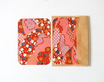 Chiyogami Note Card Set . Announcement Cards . Invitations . no.95