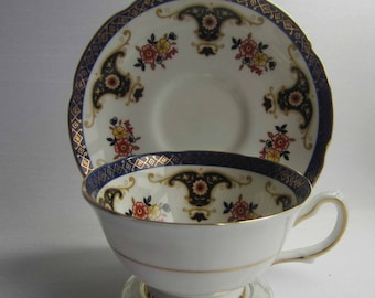 Royal Grafton by A.B.Jones 7561 Imari Palette Wide Mouth Bone China Cup and Saucer