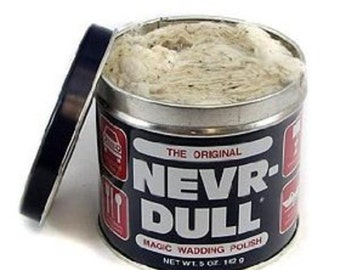Nevr-dull Never Dull metal polish 5 OZ brass polish aluminum polish copper polish metal cleaner wadding polish