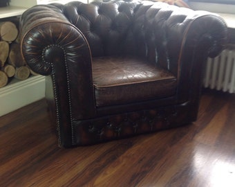 Vintage chesterfield arm chair