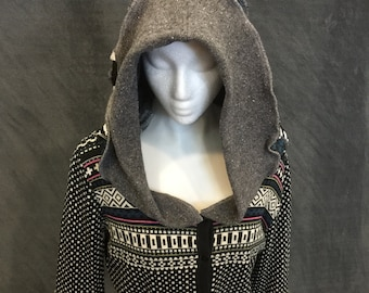 Button Up Sweater Hoodie Oversized Hoodie Button Up Hoodie Argyle Sweater Grey Sweater Grey Hoodie Sweater Medium Hoodie Medium Sweater